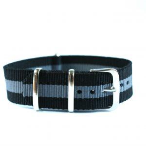 Gra-svart natoband